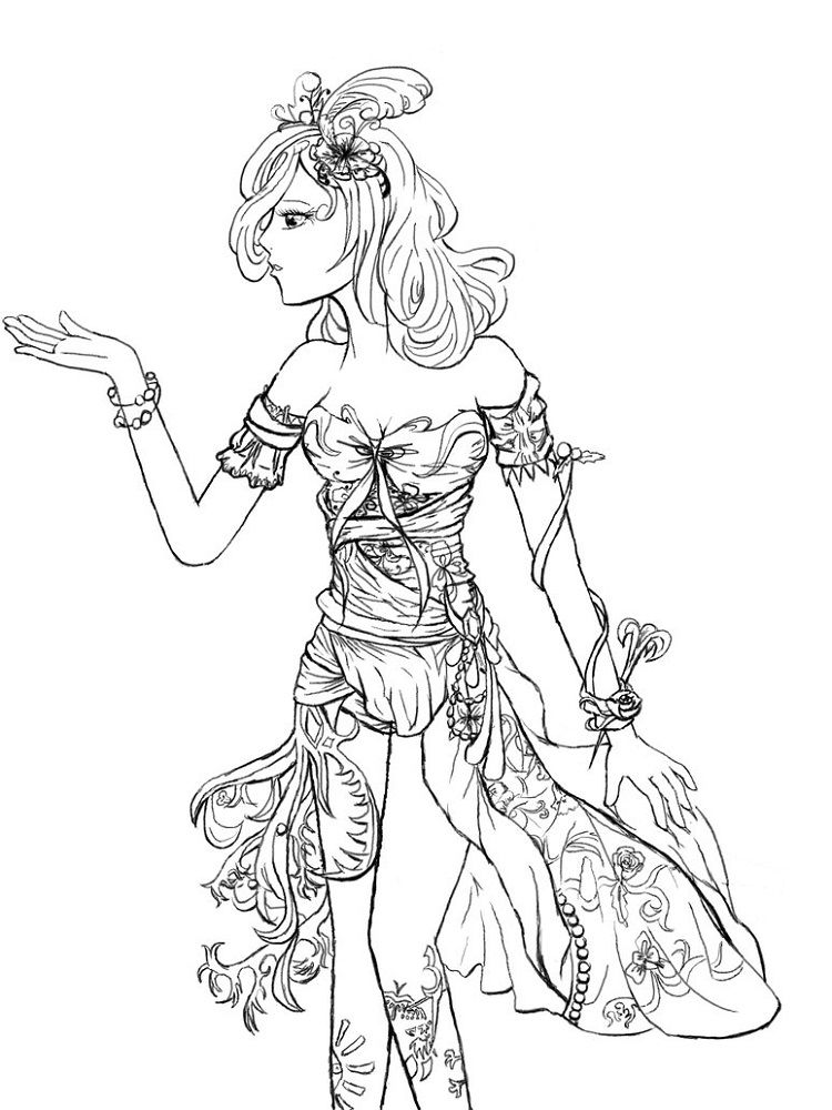 Fantasy Coloring Pages Girls