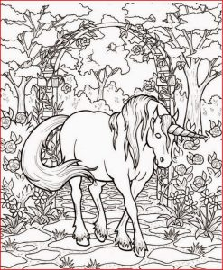 Fantasy coloring pages gorgeous unicorn 001
