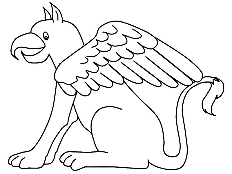 Fantasy Coloring Pages Griffin 001
