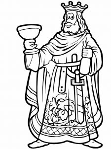 Fantasy coloring pages king 001