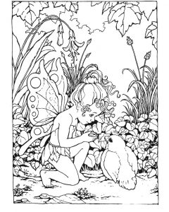 Fantasy coloring pages little fairy 001