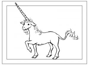 Fantasy coloring pages printable unicorn 001
