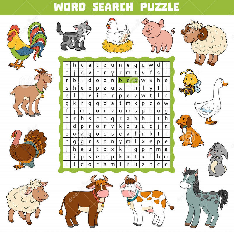 Farm Word Search For Kids