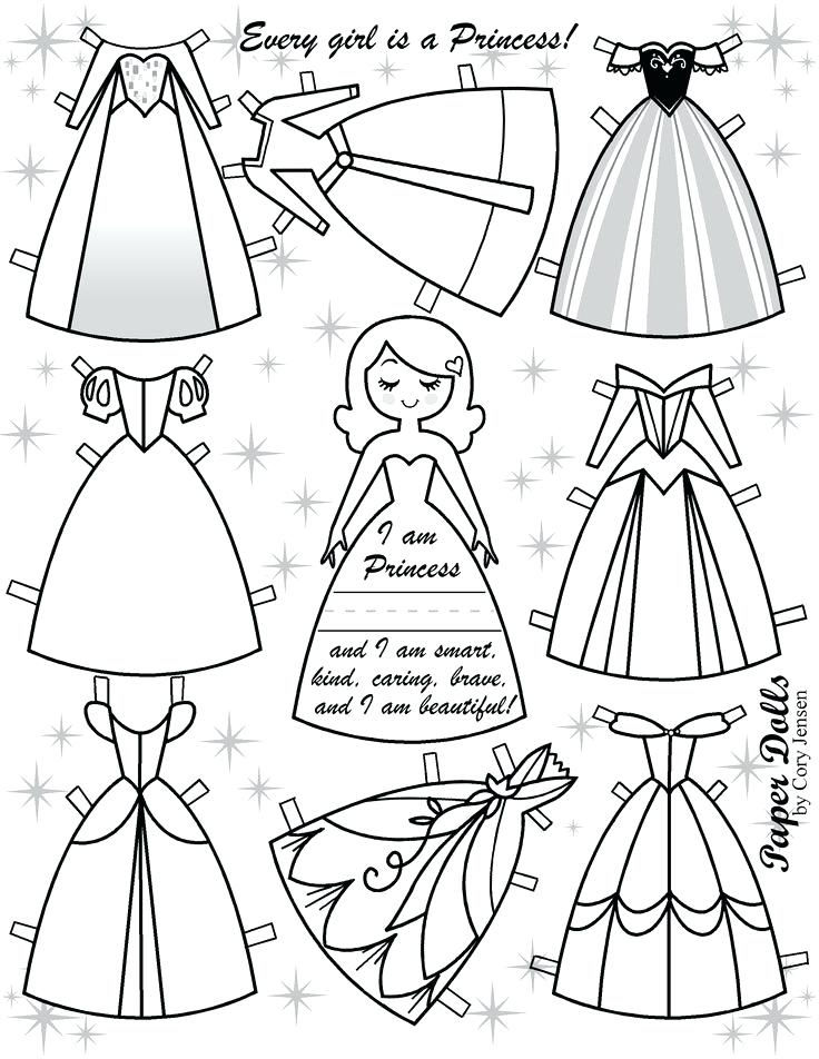 Fashion Paper Doll Template Clothes