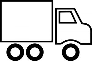 Fast truck basic truck coloring page