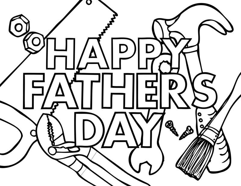 Fathers Day Coloring Pages 001