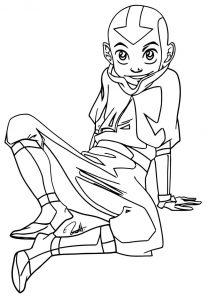 Fbabb avatar aang coloring page