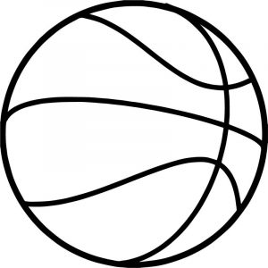 Fine basketball ball coloring page