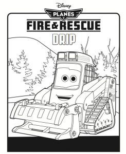 Fire and rescue drip coloring page