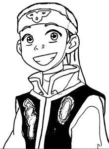Fire nation aang spidercookiee avatar aang coloring page