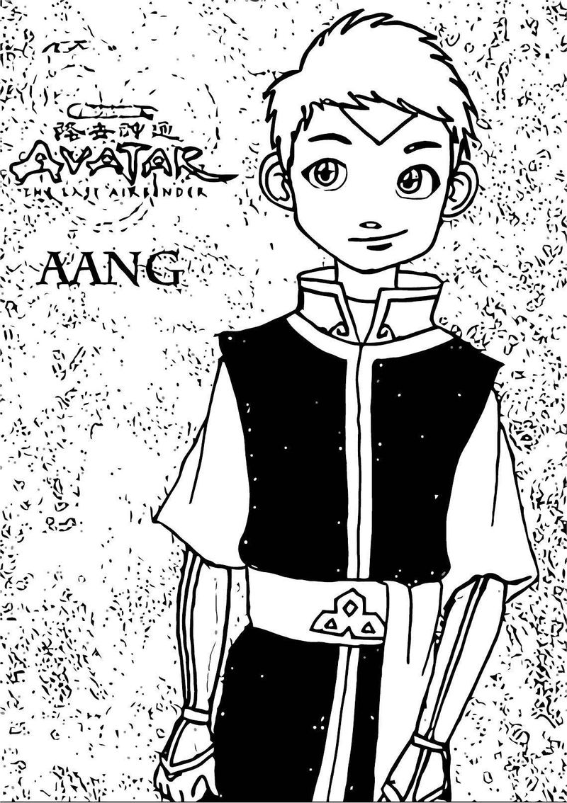 Fire Nation Aang Suzannedcapleton Avatar Aang Coloring Page