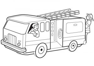 Fire truck coloring page 001
