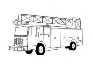 Fire truck coloring pages 001