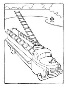 Fire truck coloring pages for kids 001