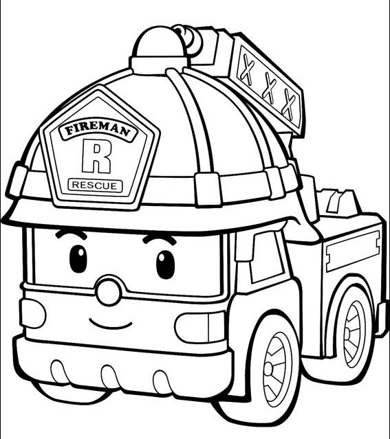 Fire Truck Coloring Pages For Toddlers