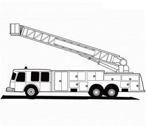 Fire truck coloring pages images 001