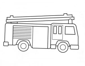 Fire truck coloring pages printable 001