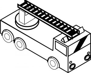 Fire truck coloring pages to print 001