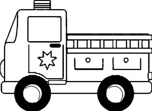 Fire truck star coloring page