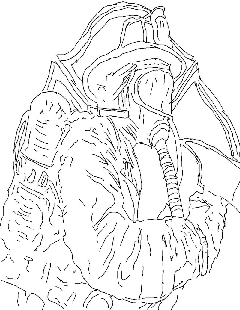 Firefighter Coloring Page Pictures