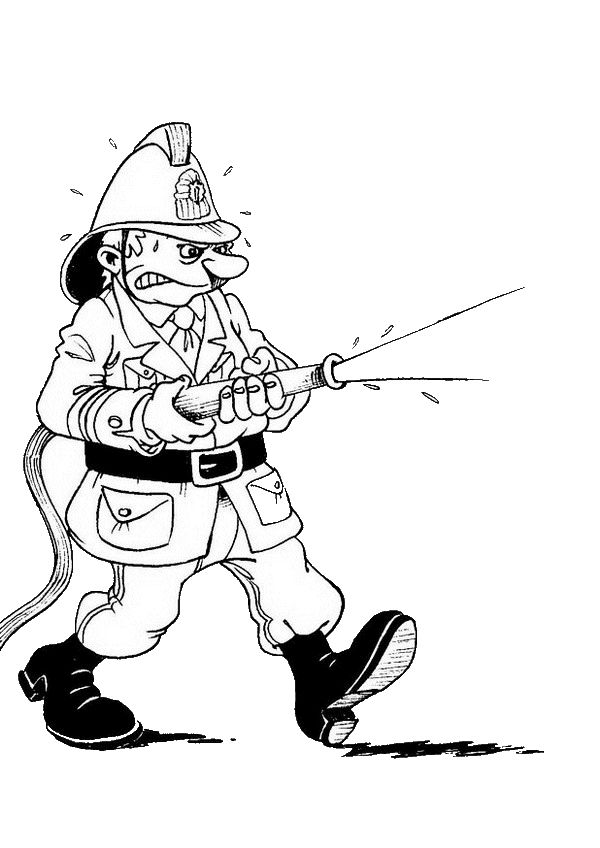 Firefighter Coloring Pages Images