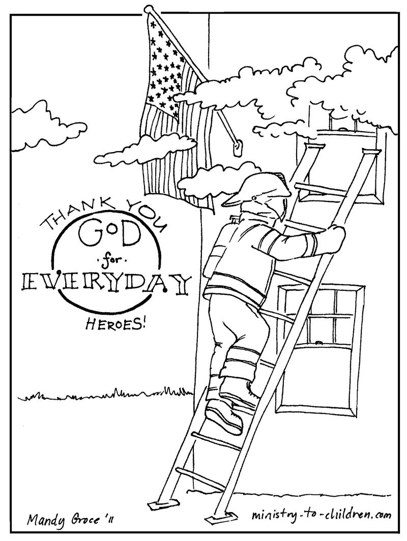 Fireman Hero Coloring Pages To Print