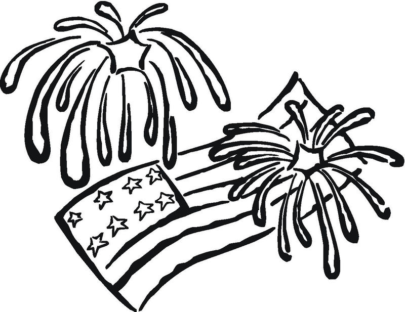 Fireworks Coloring Page Print