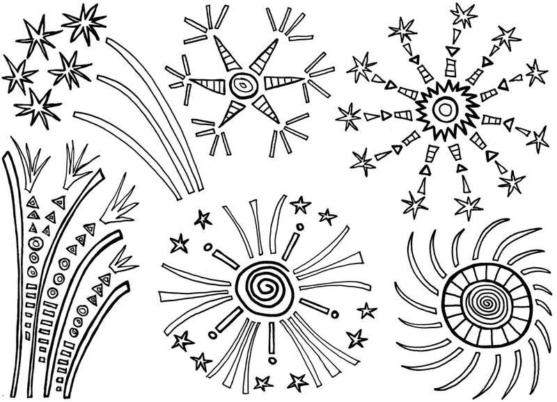 Fireworks Coloring Pages