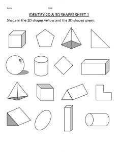 First grade worksheets shapes