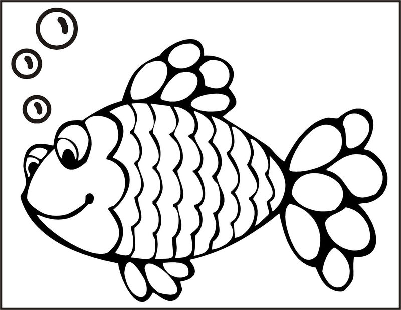 Fish Color Pages Rainbow Fish