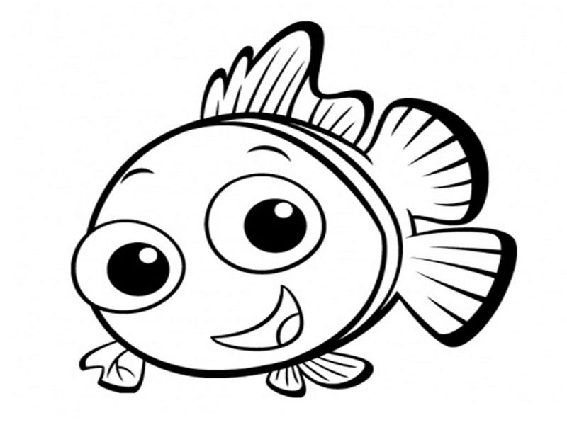Fish Coloring Page For Child