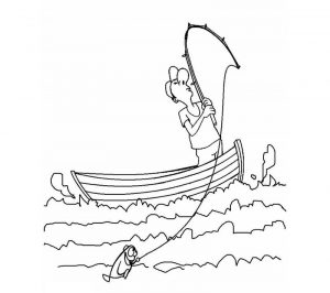 Fishing boat coloring pages
