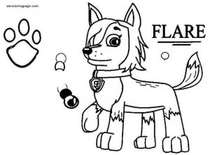 Flare paw patrol omega quad rant coloring page