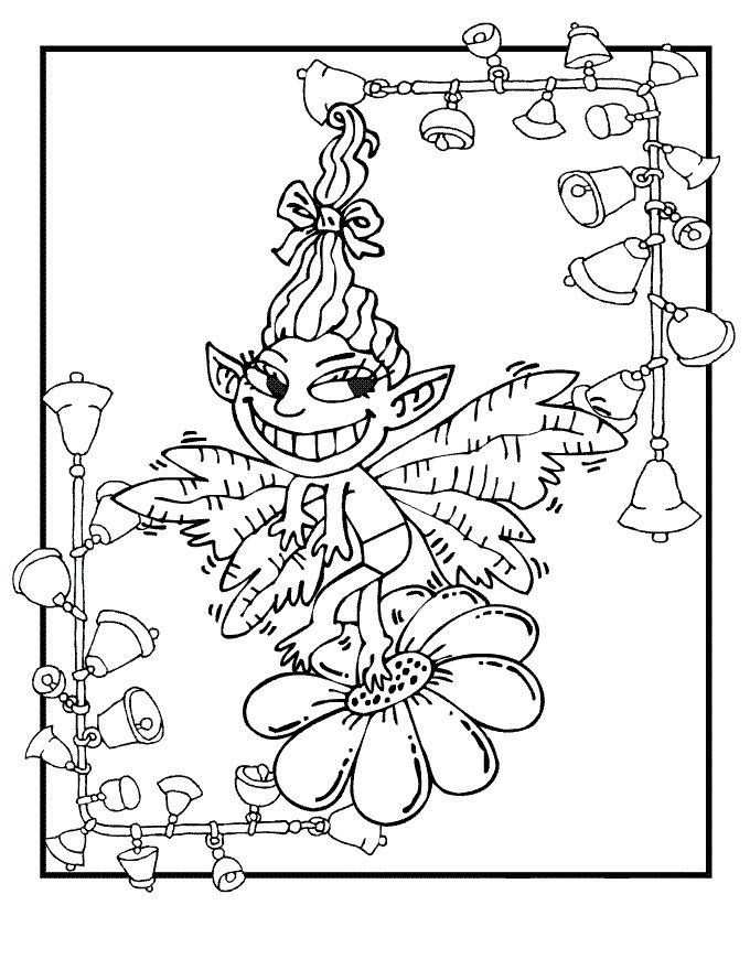 Flower Fairy Fantasy Coloring Pages 001