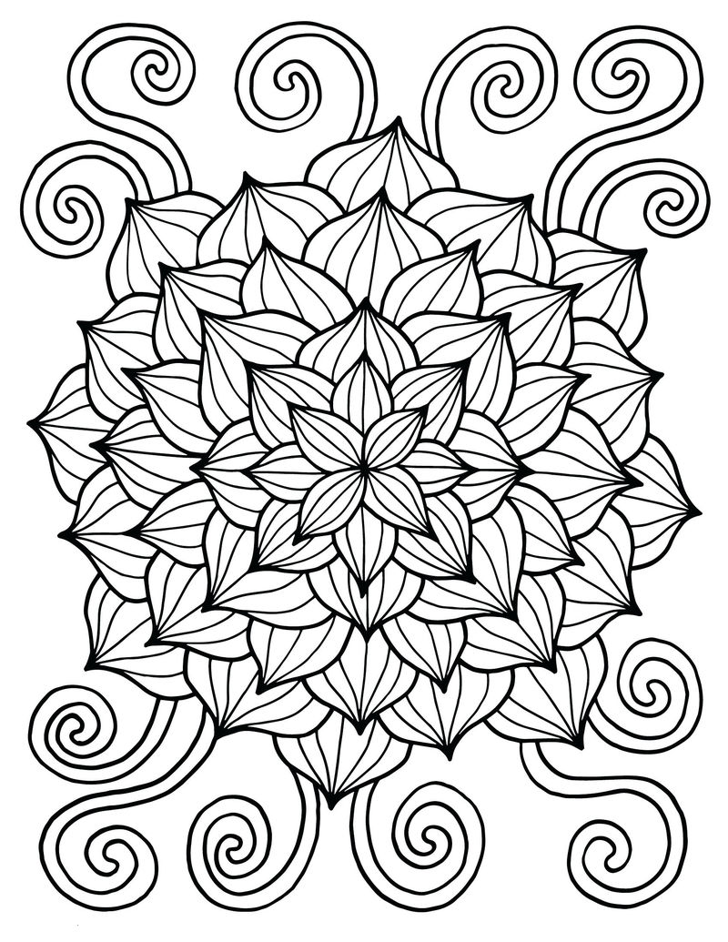 Flower For Spring Coloring Page
