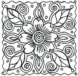Flower for spring spring coloring pages