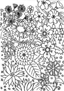 Flower garden coloring pages 001