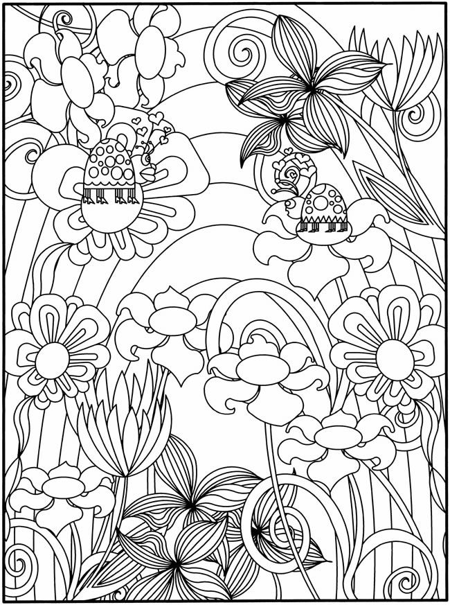 Flower Garden Printable Coloring Pages