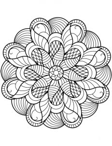 Flower mandala coloring page 1