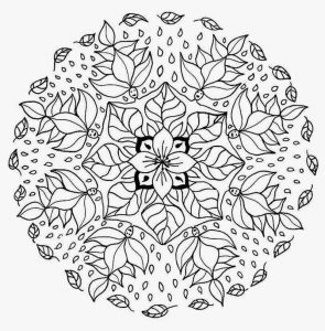 Flower mandala coloring page printable