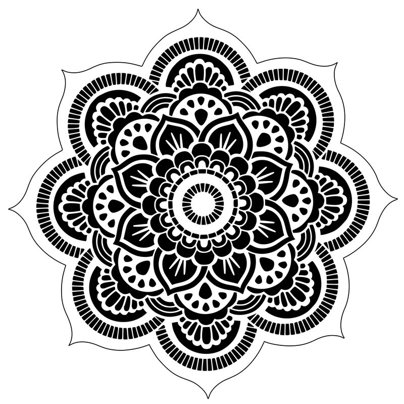 Flower Mandala Coloring Pages For Adults 1