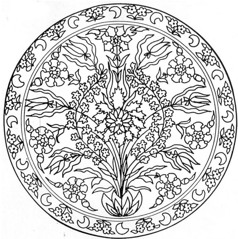 Flower Mandala Drawing For Coloring