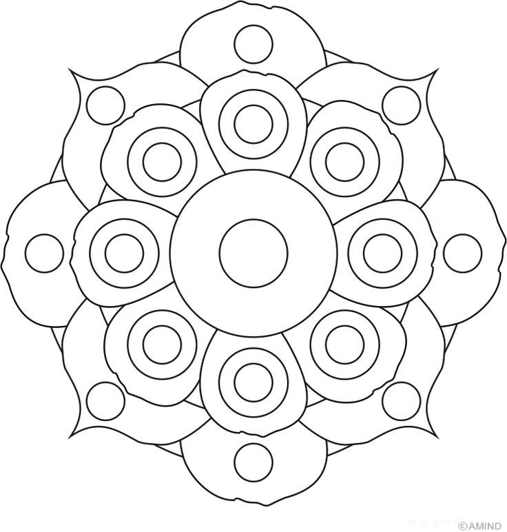 Flower Mandala Pattern Coloring Pages
