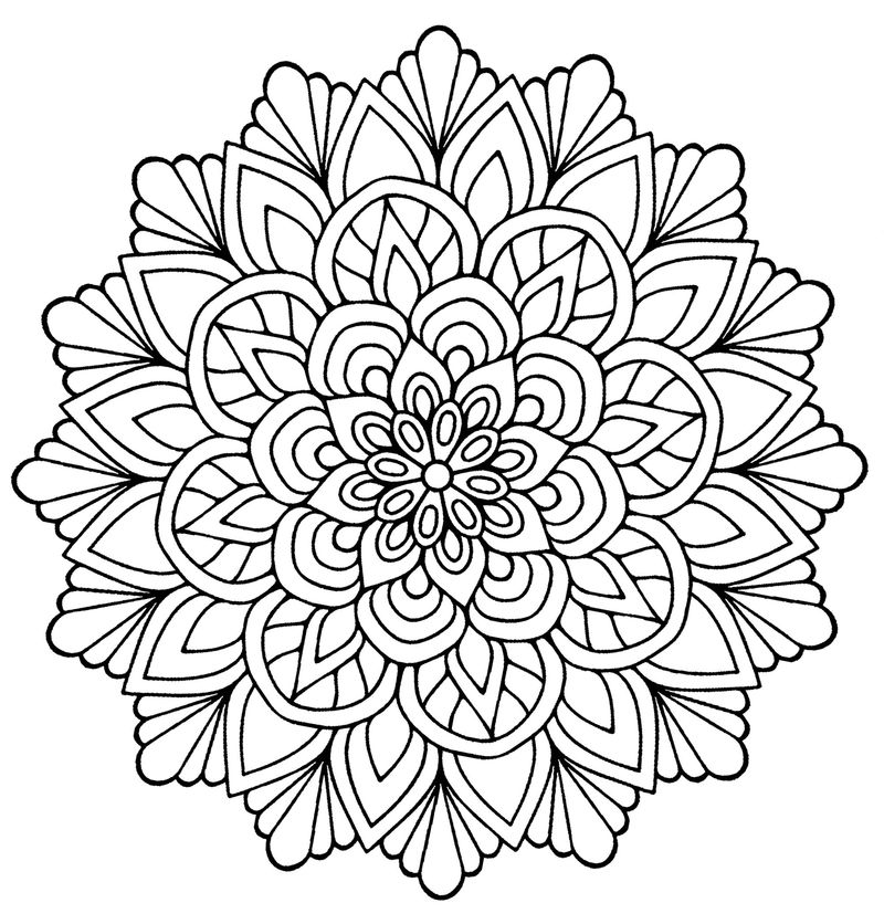 Flower Mandala Printable Coloring Pages