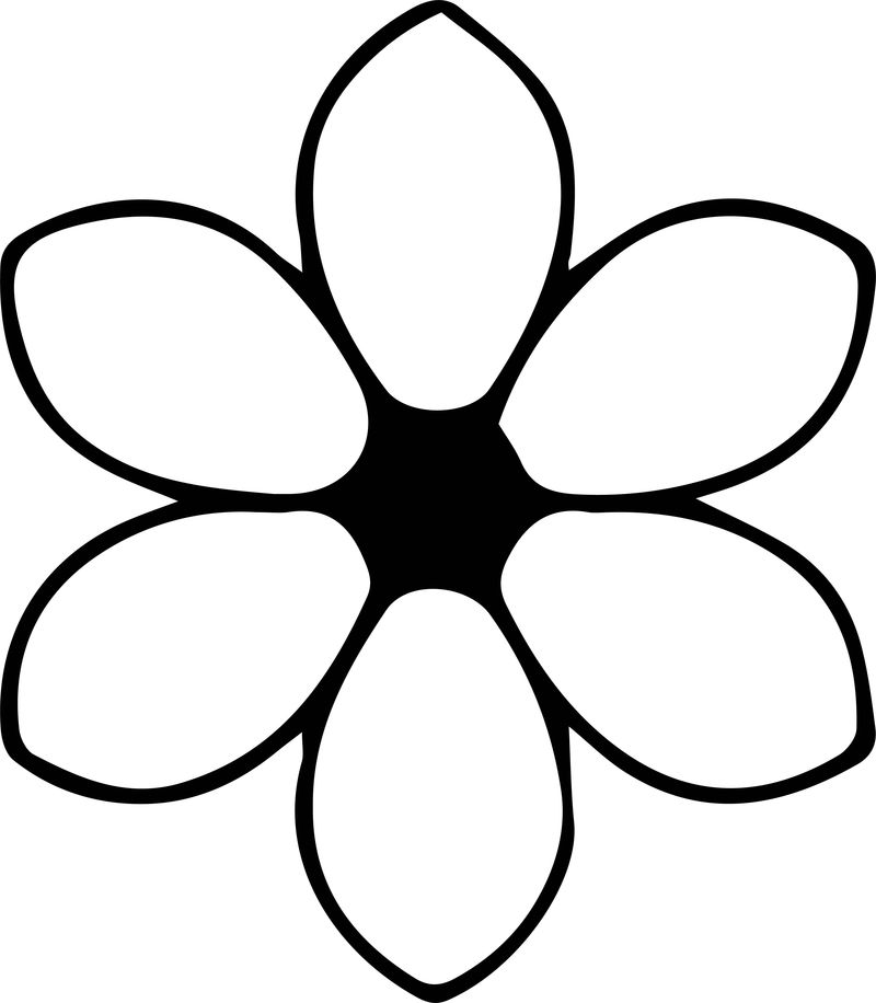Flower One Coloring Page