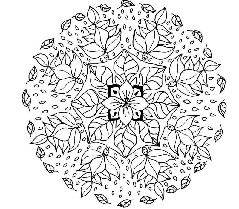 Flower People Mandala Coloring Pages