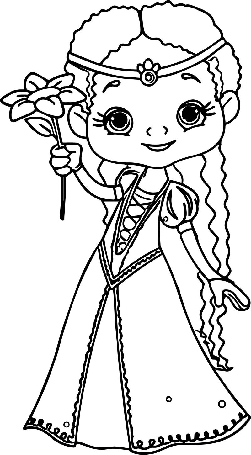 Flower Princess Coloring Page