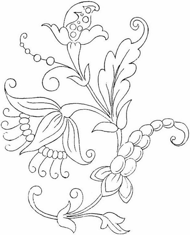 Flower Print For Coloring 001