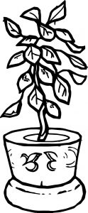 Flower shape for children coloring page