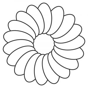 Flower template printable simple 001